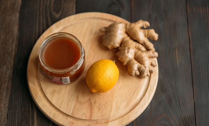 Лимон с медом и имбирем