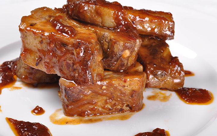 свиные отбивные в соевом соусе в духовке