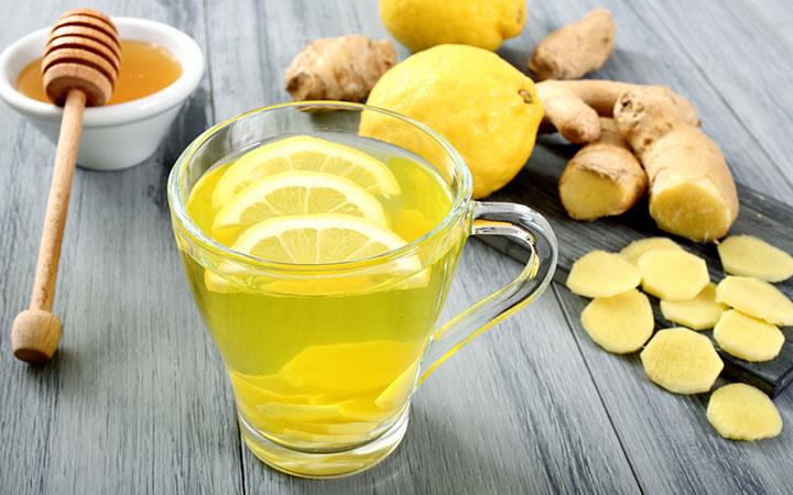 Целебный чай с лимоном, медом и имбирем