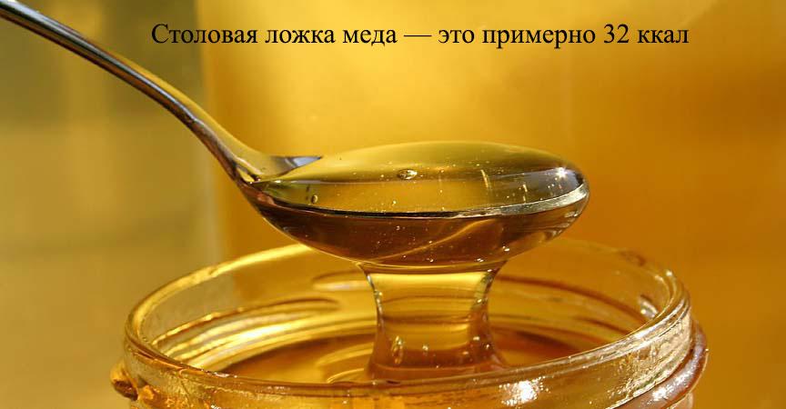 Калорийность столовой ложки меда