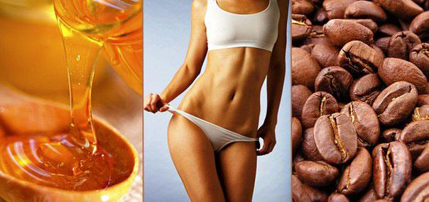 Мед и кофе для обертываний