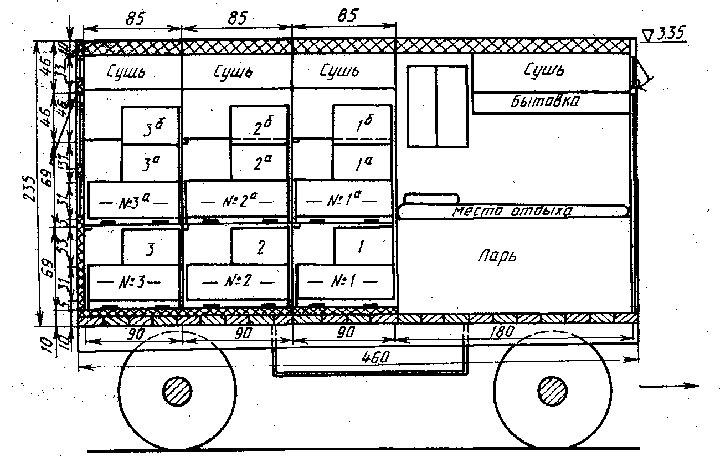 Схема павильона для пчел