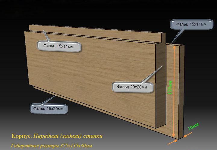 Передняя (задняя) стенка корпуса