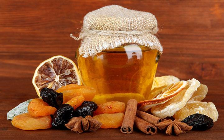 Смесь корицы с медом