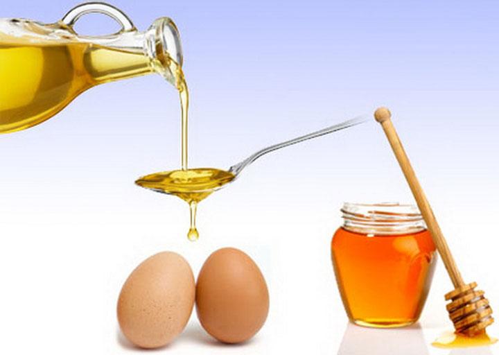 Мед, яйца для масок